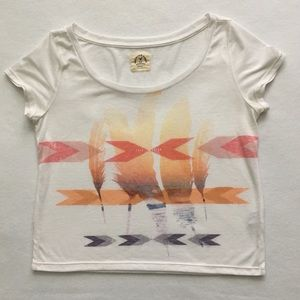 American Eagle Vintage Free To Dream Crop Shirt S